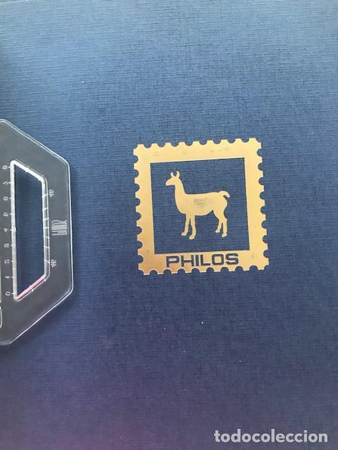 Sellos: Excepcional coleccion sellos España años 1960 a 1990 en Hojas Olegario y 4 Albums Philos - Foto 3 - 219321357