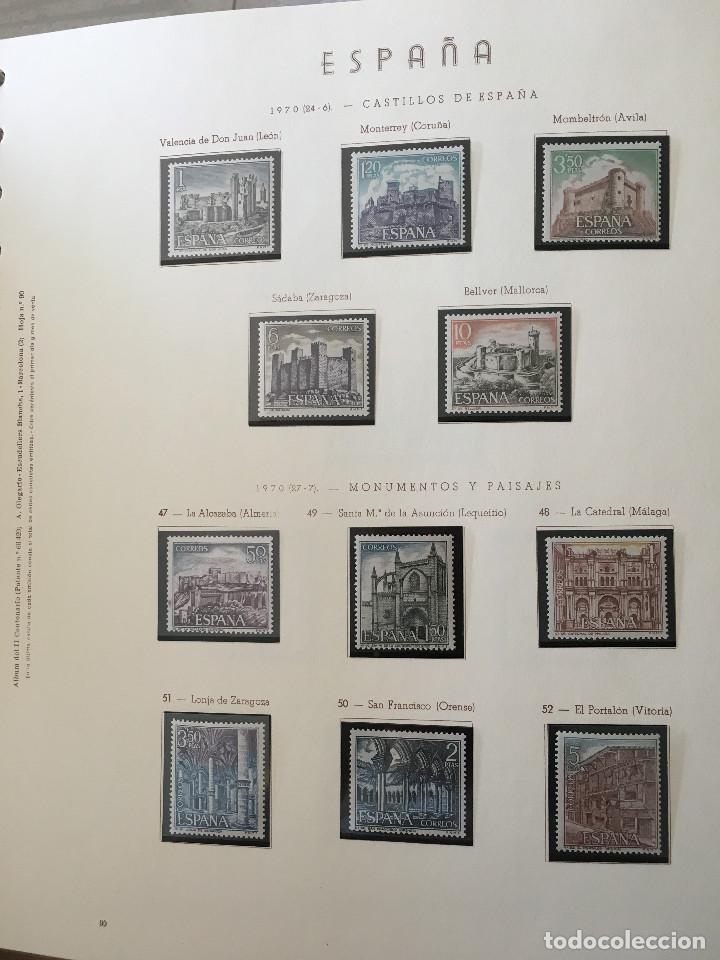 Sellos: Excepcional coleccion sellos España años 1960 a 1990 en Hojas Olegario y 4 Albums Philos - Foto 10 - 219321357