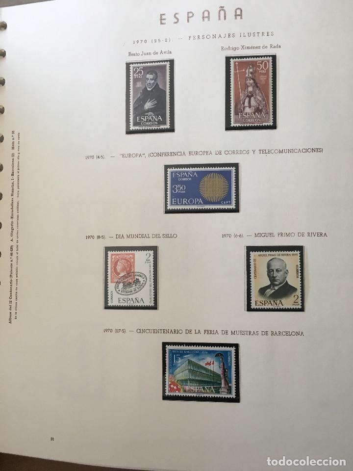 Sellos: Excepcional coleccion sellos España años 1960 a 1990 en Hojas Olegario y 4 Albums Philos - Foto 11 - 219321357