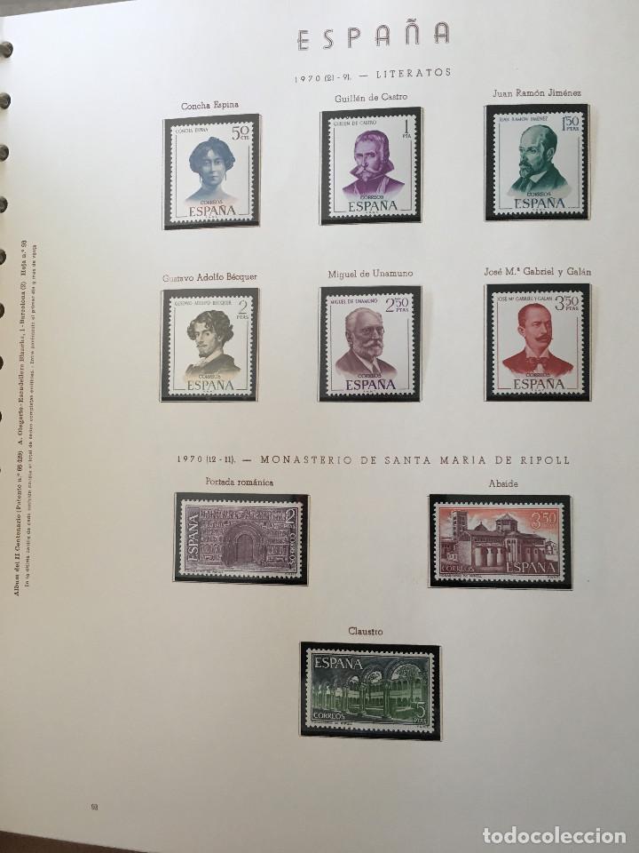Sellos: Excepcional coleccion sellos España años 1960 a 1990 en Hojas Olegario y 4 Albums Philos - Foto 13 - 219321357