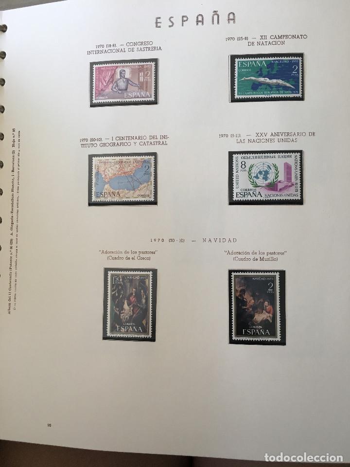 Sellos: Excepcional coleccion sellos España años 1960 a 1990 en Hojas Olegario y 4 Albums Philos - Foto 15 - 219321357