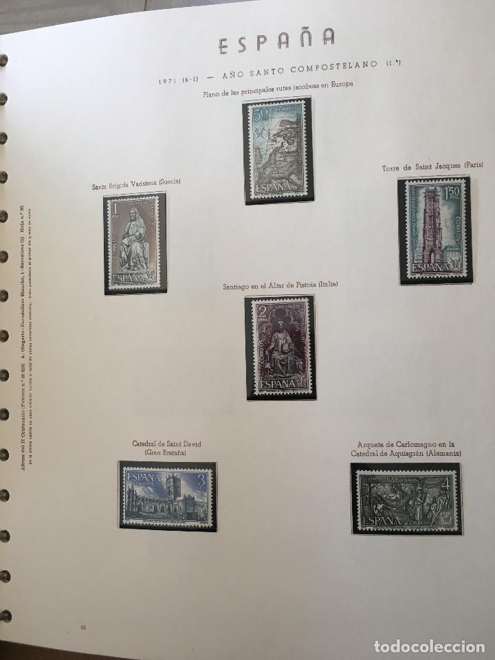Sellos: Excepcional coleccion sellos España años 1960 a 1990 en Hojas Olegario y 4 Albums Philos - Foto 16 - 219321357