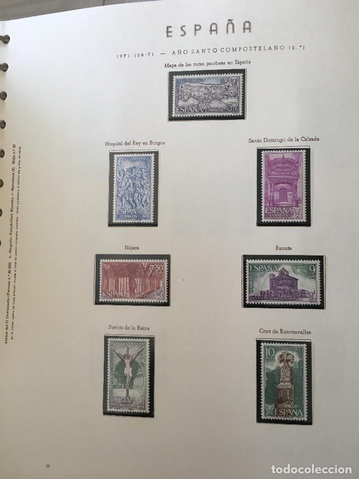 Sellos: Excepcional coleccion sellos España años 1960 a 1990 en Hojas Olegario y 4 Albums Philos - Foto 17 - 219321357