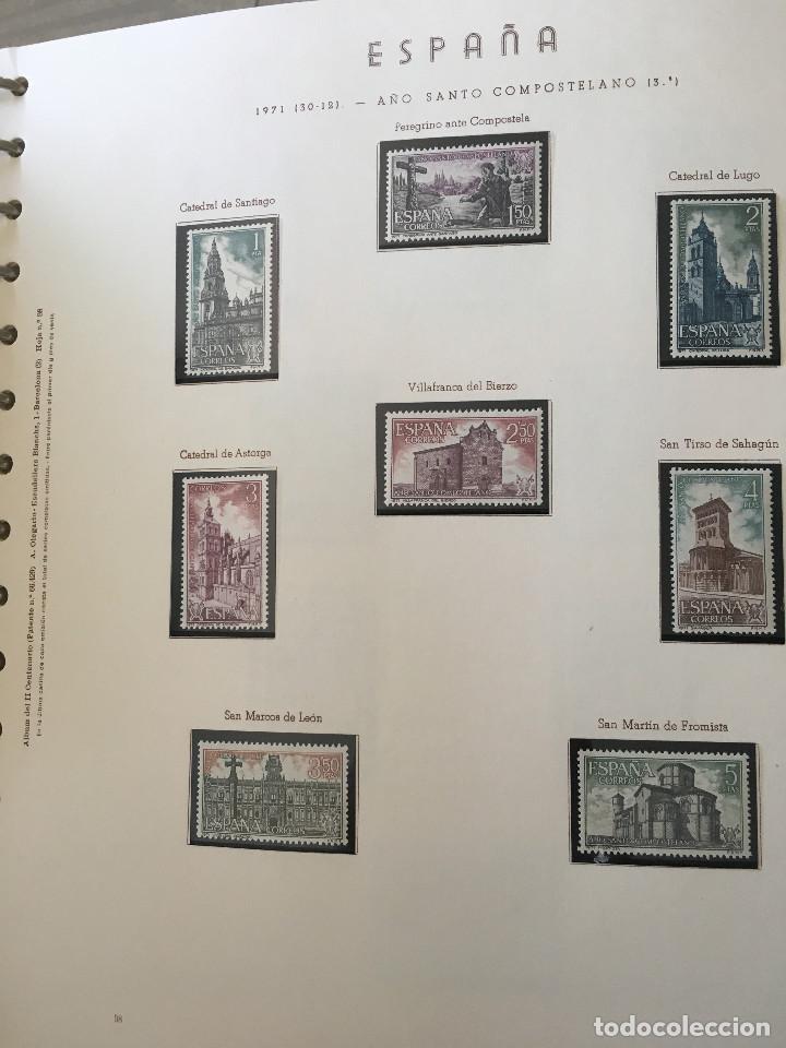 Sellos: Excepcional coleccion sellos España años 1960 a 1990 en Hojas Olegario y 4 Albums Philos - Foto 18 - 219321357