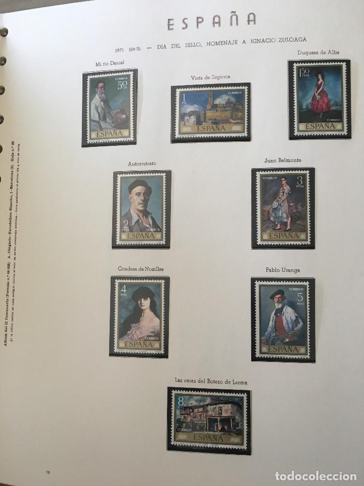 Sellos: Excepcional coleccion sellos España años 1960 a 1990 en Hojas Olegario y 4 Albums Philos - Foto 19 - 219321357