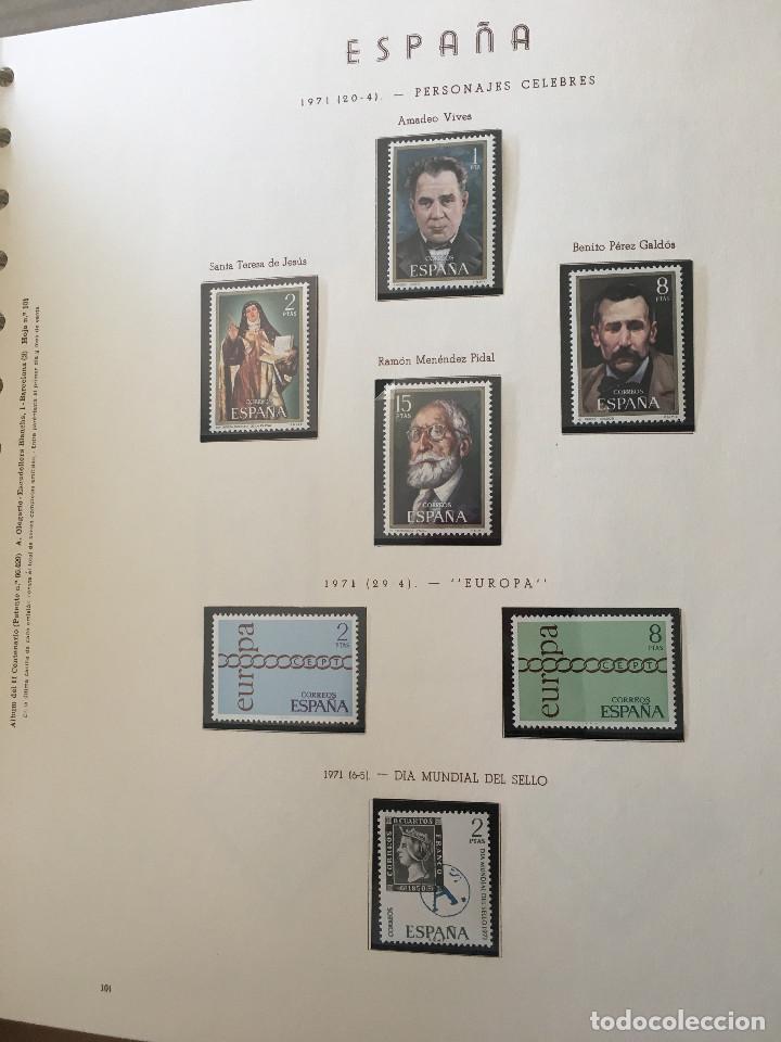 Sellos: Excepcional coleccion sellos España años 1960 a 1990 en Hojas Olegario y 4 Albums Philos - Foto 21 - 219321357