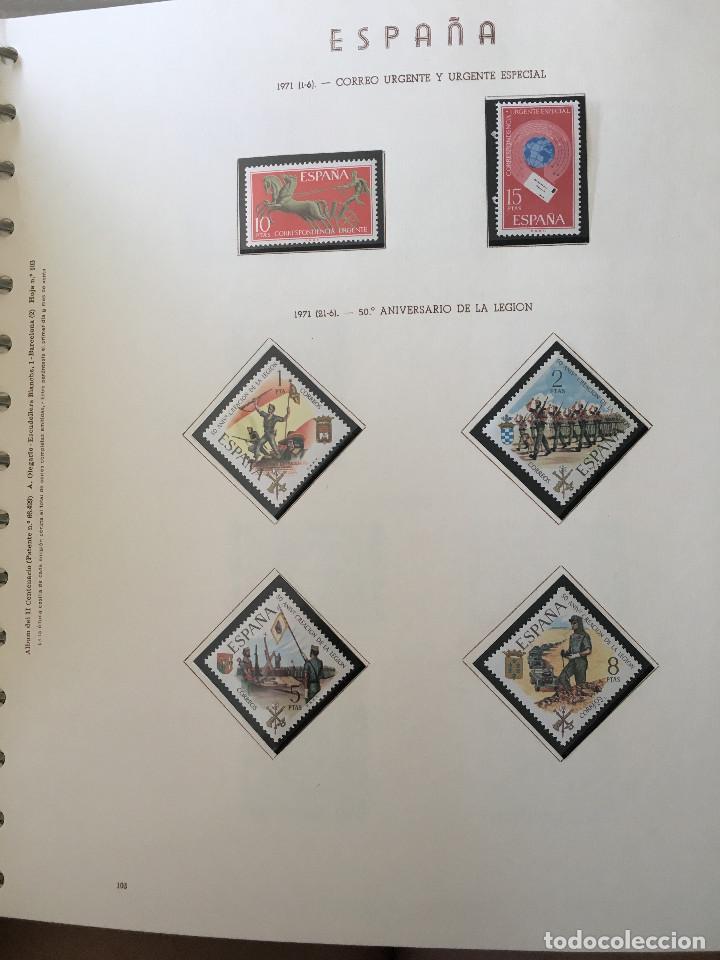 Sellos: Excepcional coleccion sellos España años 1960 a 1990 en Hojas Olegario y 4 Albums Philos - Foto 23 - 219321357