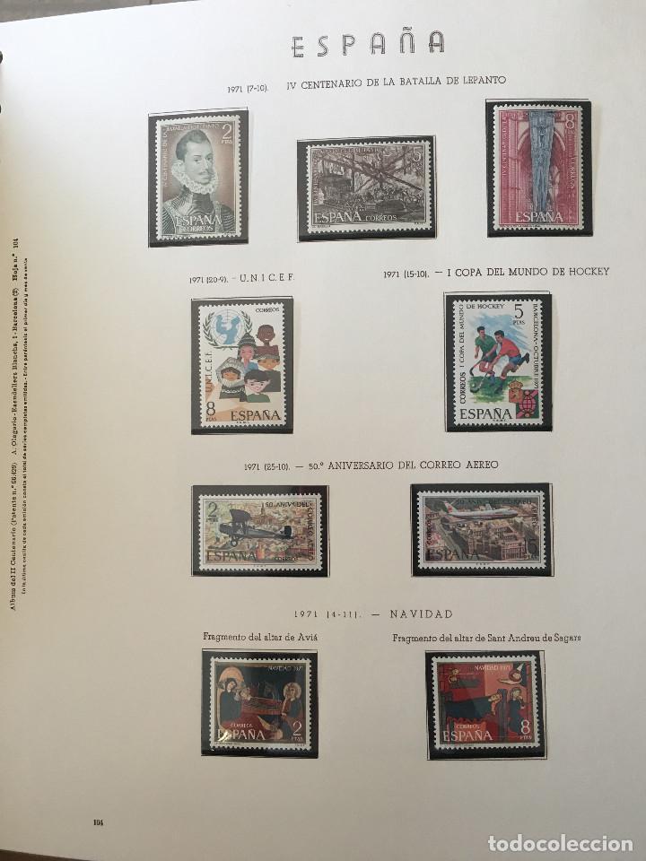 Sellos: Excepcional coleccion sellos España años 1960 a 1990 en Hojas Olegario y 4 Albums Philos - Foto 24 - 219321357