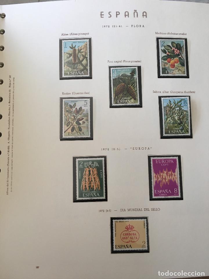 Sellos: Excepcional coleccion sellos España años 1960 a 1990 en Hojas Olegario y 4 Albums Philos - Foto 27 - 219321357
