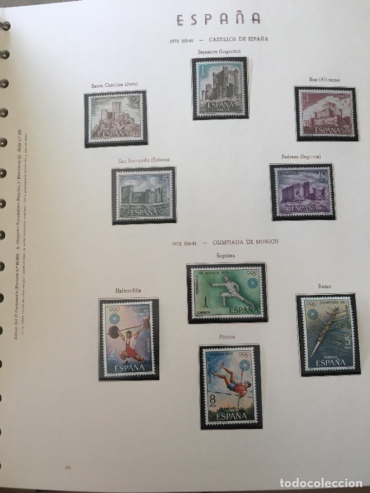 Sellos: Excepcional coleccion sellos España años 1960 a 1990 en Hojas Olegario y 4 Albums Philos - Foto 28 - 219321357