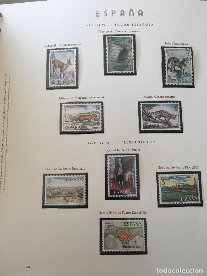 Sellos: Excepcional coleccion sellos España años 1960 a 1990 en Hojas Olegario y 4 Albums Philos - Foto 29 - 219321357
