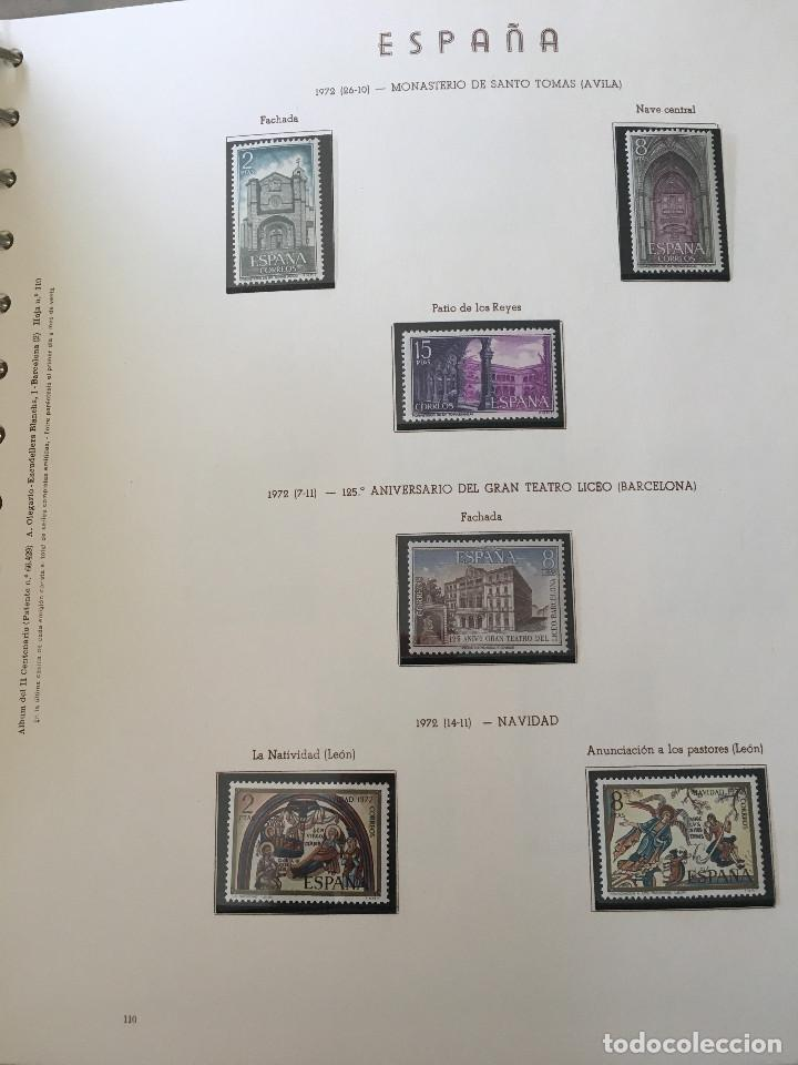 Sellos: Excepcional coleccion sellos España años 1960 a 1990 en Hojas Olegario y 4 Albums Philos - Foto 30 - 219321357