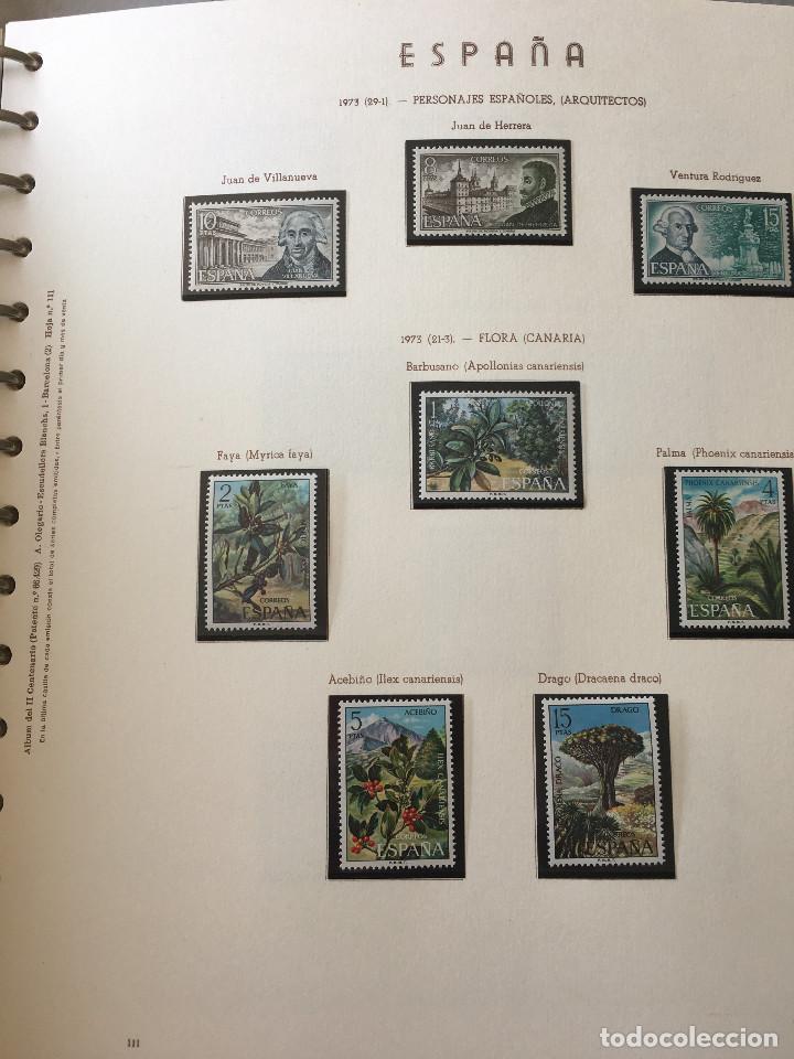 Sellos: Excepcional coleccion sellos España años 1960 a 1990 en Hojas Olegario y 4 Albums Philos - Foto 31 - 219321357