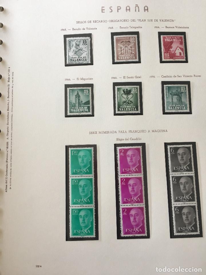 Sellos: Excepcional coleccion sellos España años 1960 a 1990 en Hojas Olegario y 4 Albums Philos - Foto 33 - 219321357