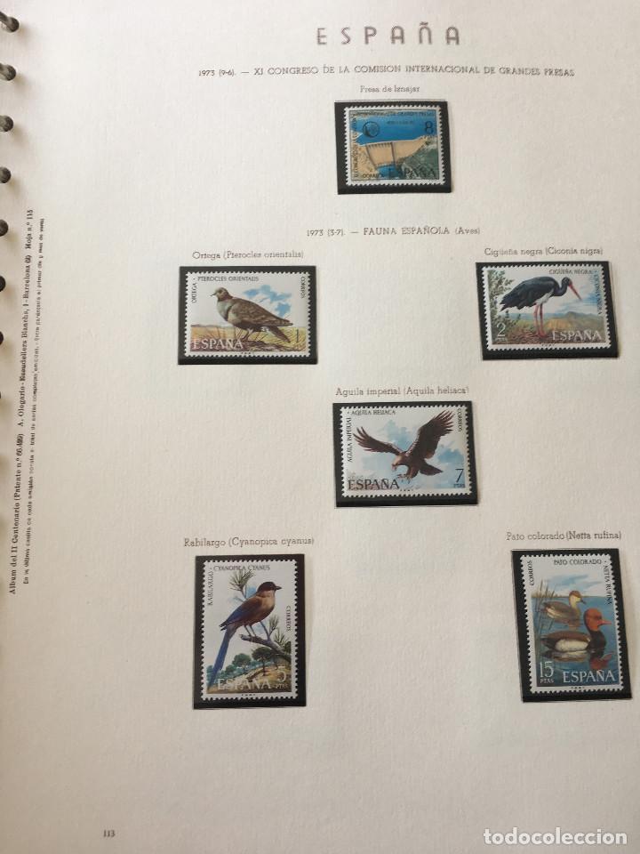 Sellos: Excepcional coleccion sellos España años 1960 a 1990 en Hojas Olegario y 4 Albums Philos - Foto 34 - 219321357
