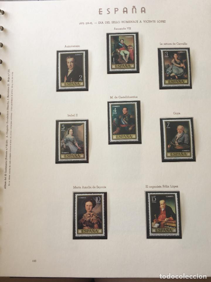 Sellos: Excepcional coleccion sellos España años 1960 a 1990 en Hojas Olegario y 4 Albums Philos - Foto 36 - 219321357