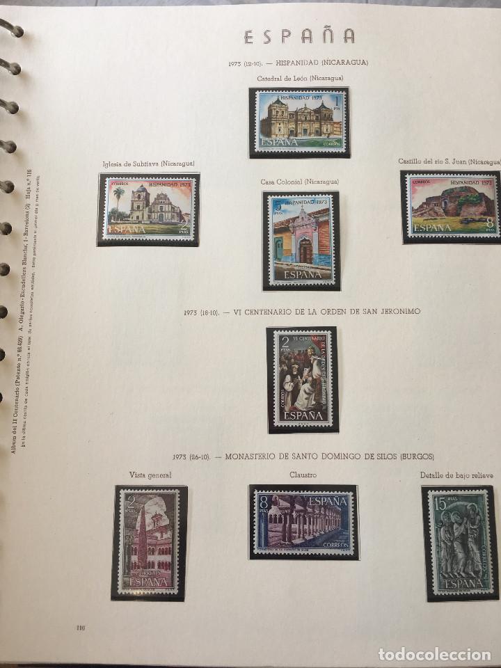 Sellos: Excepcional coleccion sellos España años 1960 a 1990 en Hojas Olegario y 4 Albums Philos - Foto 37 - 219321357