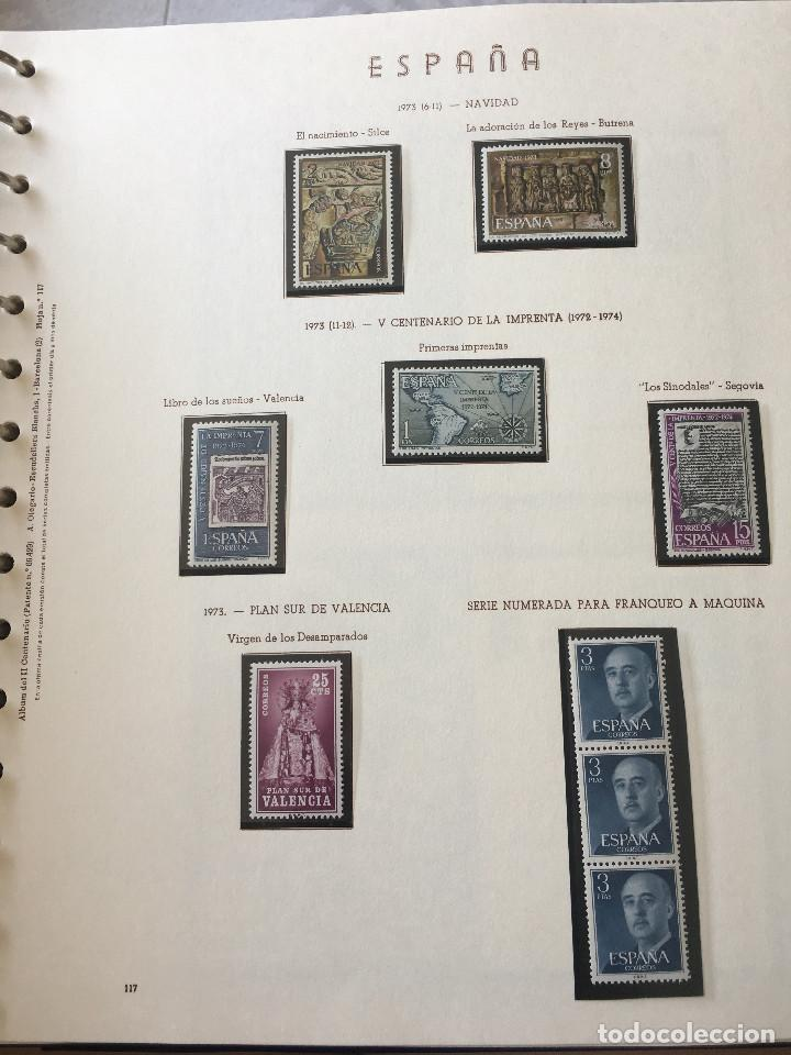 Sellos: Excepcional coleccion sellos España años 1960 a 1990 en Hojas Olegario y 4 Albums Philos - Foto 38 - 219321357