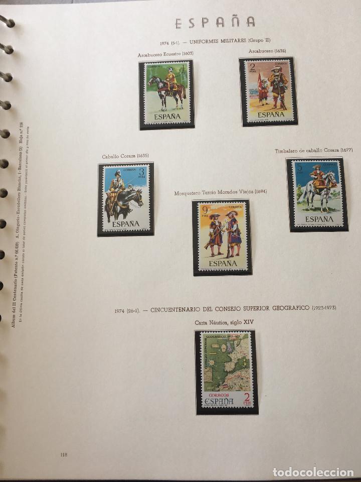 Sellos: Excepcional coleccion sellos España años 1960 a 1990 en Hojas Olegario y 4 Albums Philos - Foto 39 - 219321357