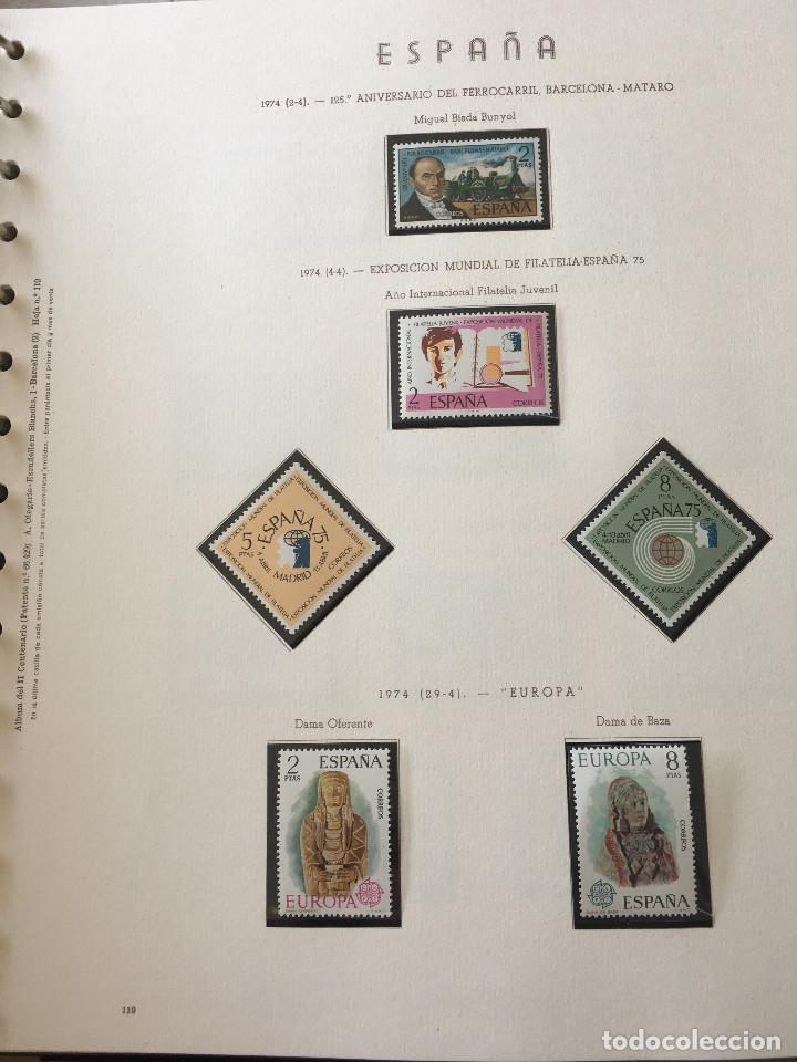 Sellos: Excepcional coleccion sellos España años 1960 a 1990 en Hojas Olegario y 4 Albums Philos - Foto 40 - 219321357