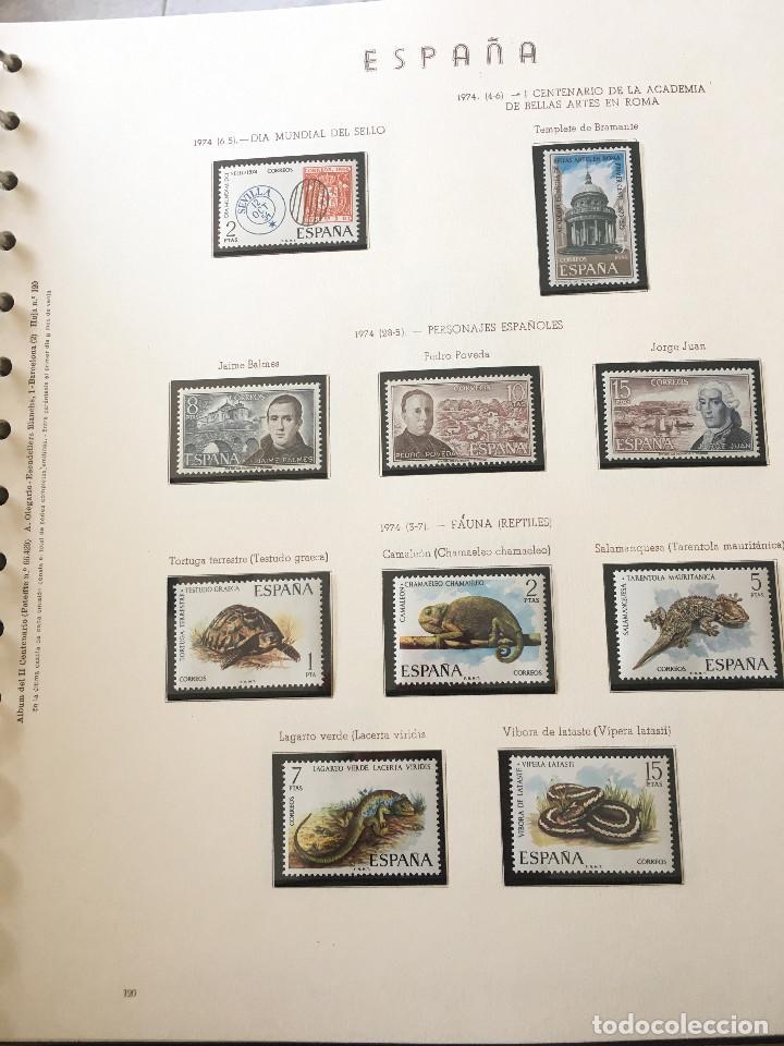 Sellos: Excepcional coleccion sellos España años 1960 a 1990 en Hojas Olegario y 4 Albums Philos - Foto 41 - 219321357