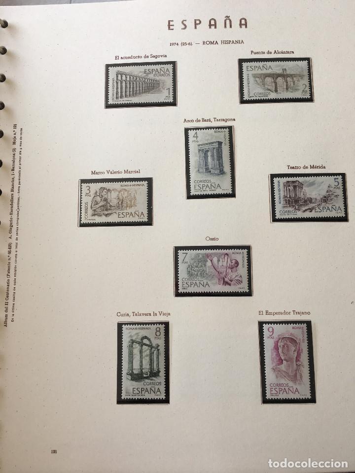 Sellos: Excepcional coleccion sellos España años 1960 a 1990 en Hojas Olegario y 4 Albums Philos - Foto 42 - 219321357
