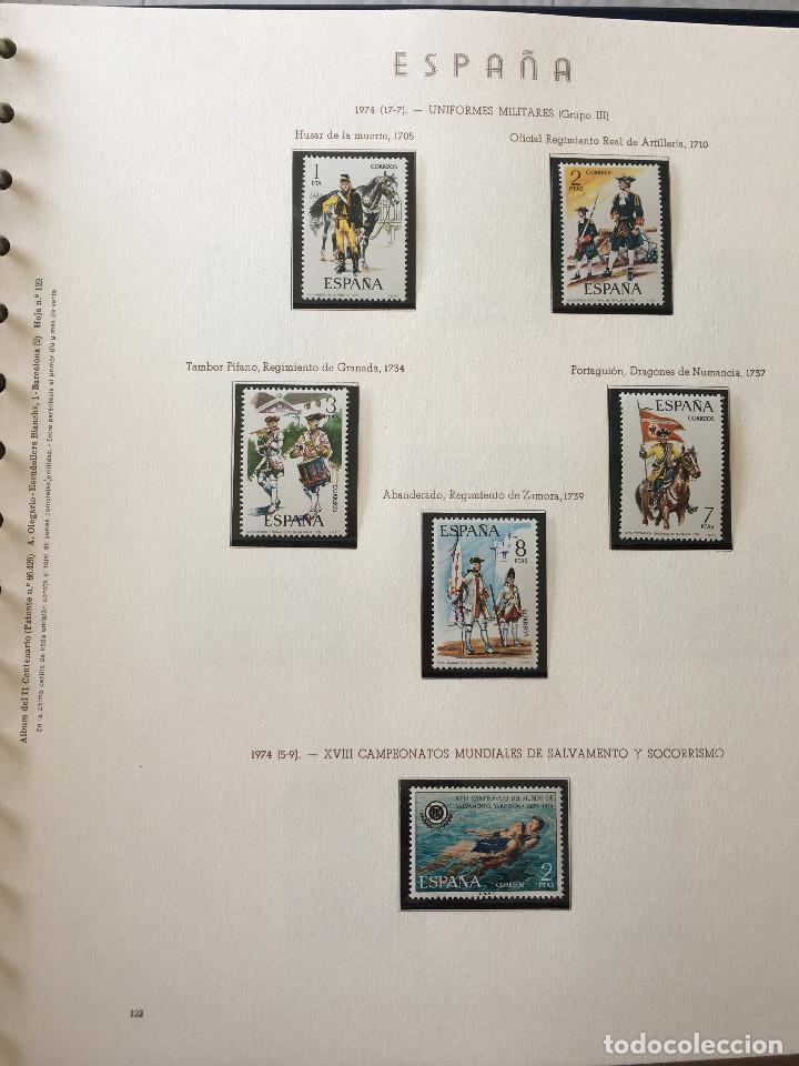 Sellos: Excepcional coleccion sellos España años 1960 a 1990 en Hojas Olegario y 4 Albums Philos - Foto 43 - 219321357