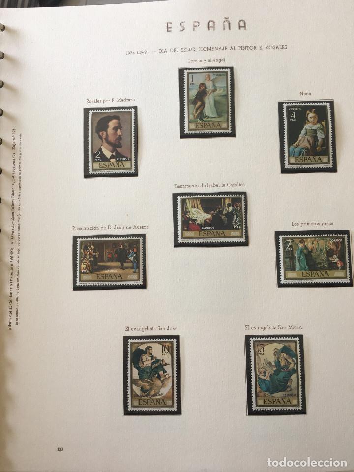Sellos: Excepcional coleccion sellos España años 1960 a 1990 en Hojas Olegario y 4 Albums Philos - Foto 44 - 219321357