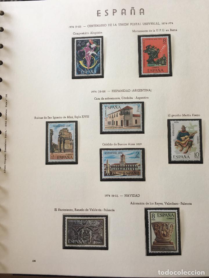 Sellos: Excepcional coleccion sellos España años 1960 a 1990 en Hojas Olegario y 4 Albums Philos - Foto 45 - 219321357