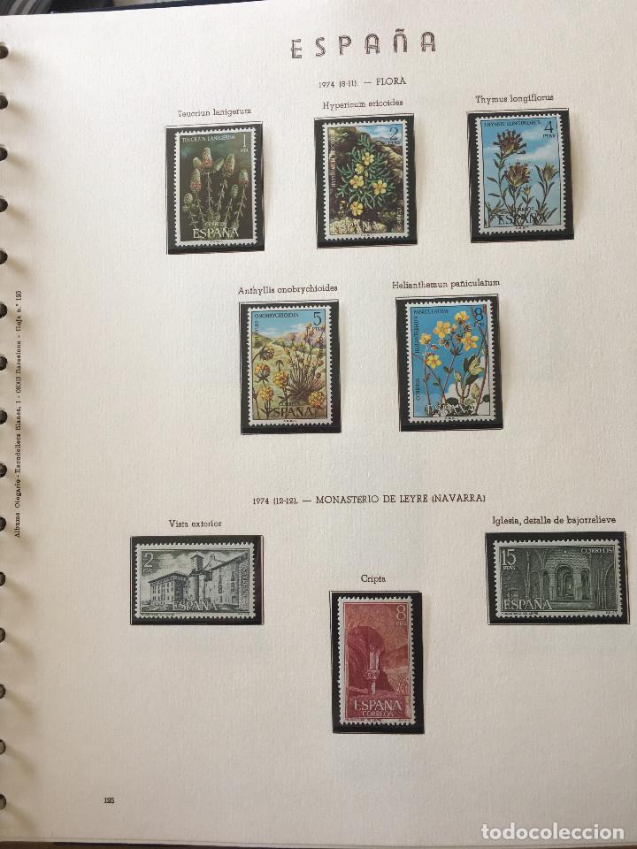 Sellos: Excepcional coleccion sellos España años 1960 a 1990 en Hojas Olegario y 4 Albums Philos - Foto 46 - 219321357