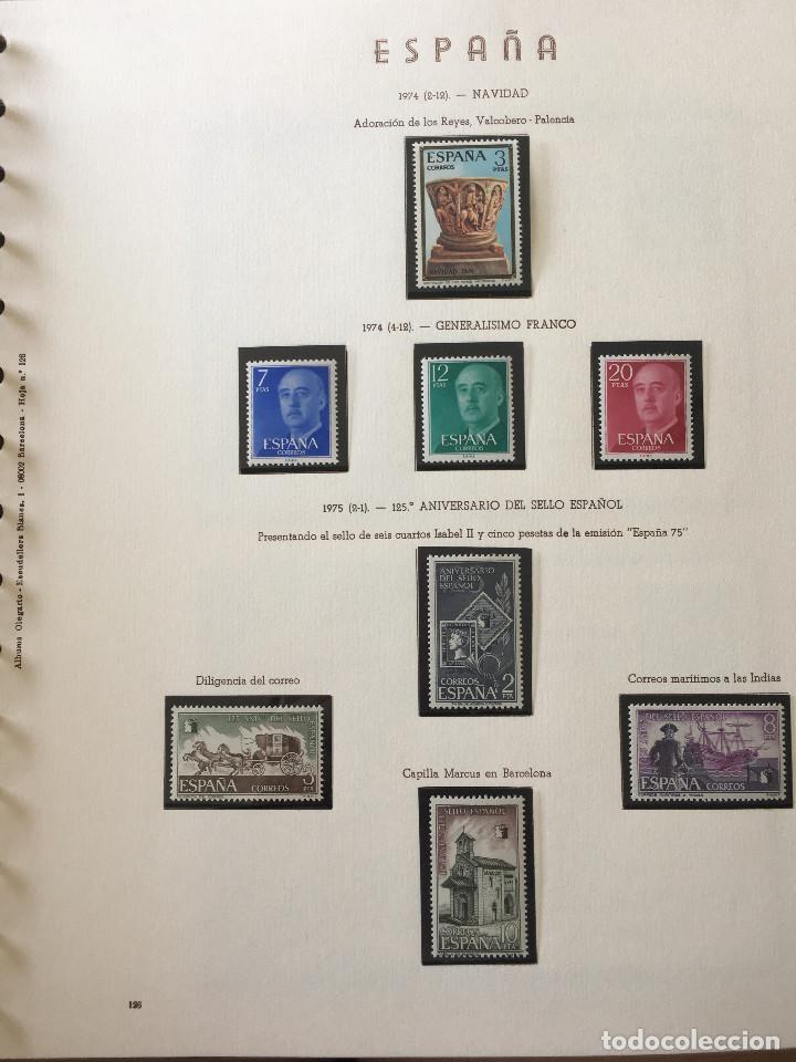 Sellos: Excepcional coleccion sellos España años 1960 a 1990 en Hojas Olegario y 4 Albums Philos - Foto 47 - 219321357