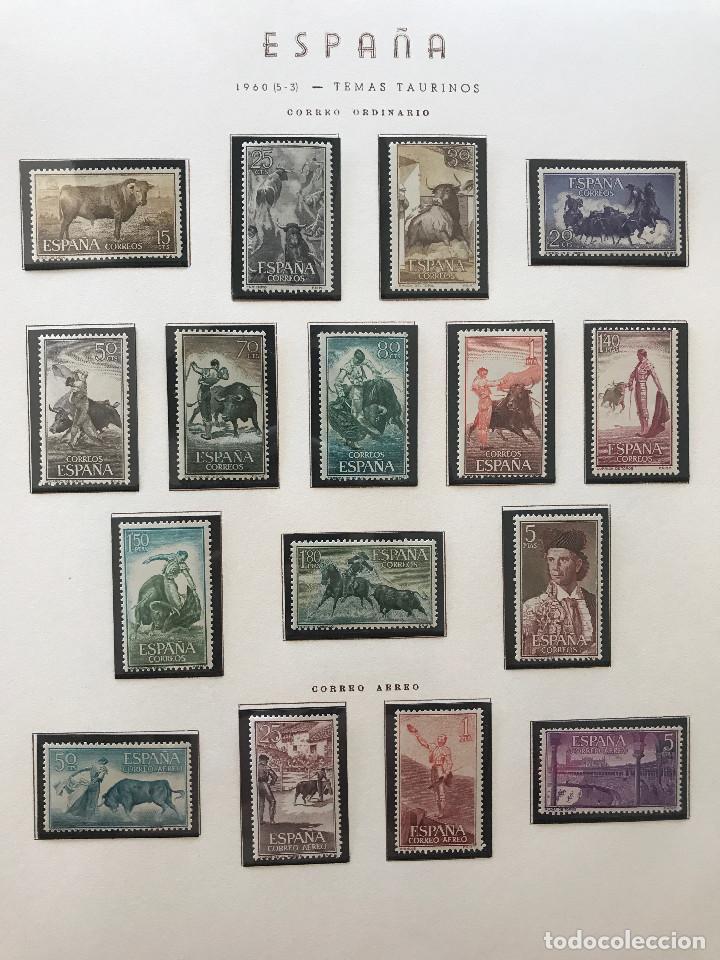 Sellos: Excepcional coleccion sellos España años 1960 a 1990 en Hojas Olegario y 4 Albums Philos - Foto 48 - 219321357