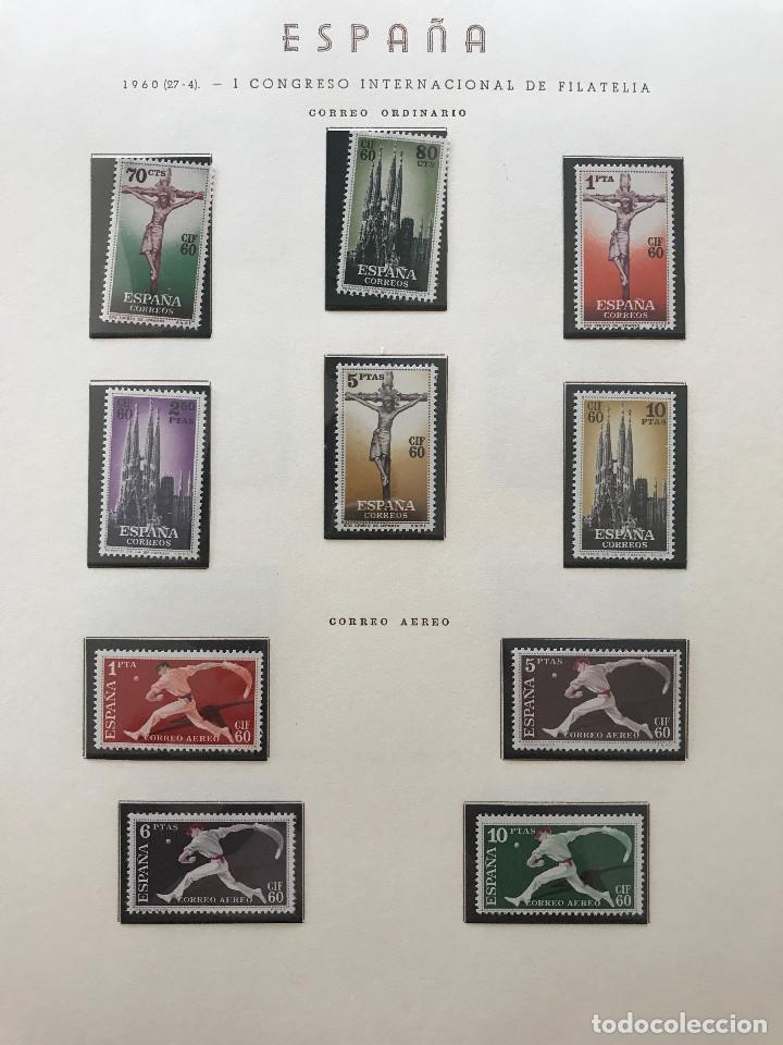 Sellos: Excepcional coleccion sellos España años 1960 a 1990 en Hojas Olegario y 4 Albums Philos - Foto 50 - 219321357