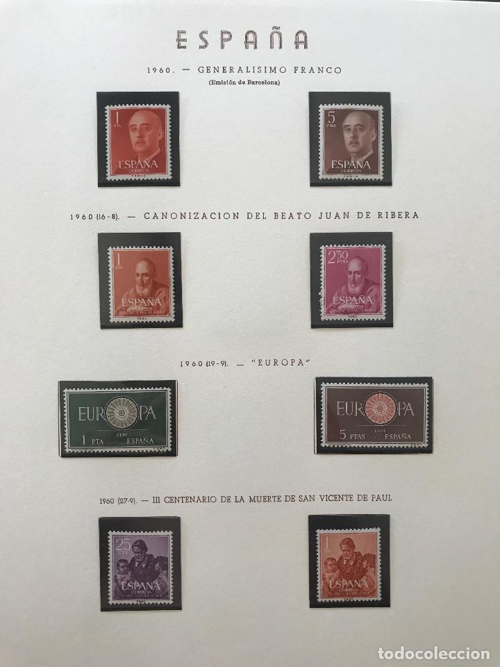 Sellos: Excepcional coleccion sellos España años 1960 a 1990 en Hojas Olegario y 4 Albums Philos - Foto 51 - 219321357
