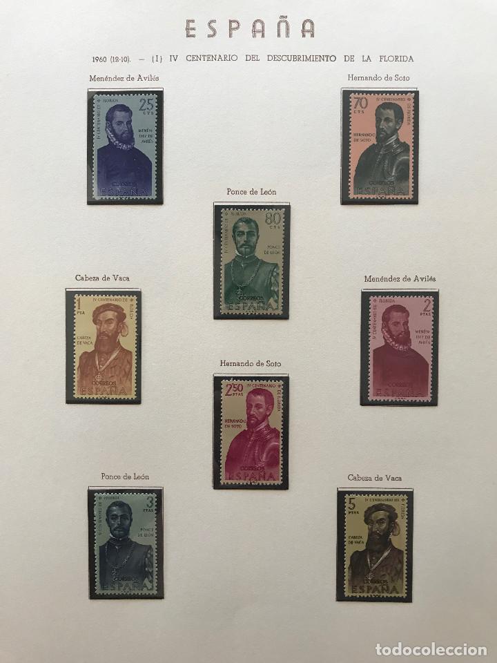Sellos: Excepcional coleccion sellos España años 1960 a 1990 en Hojas Olegario y 4 Albums Philos - Foto 52 - 219321357