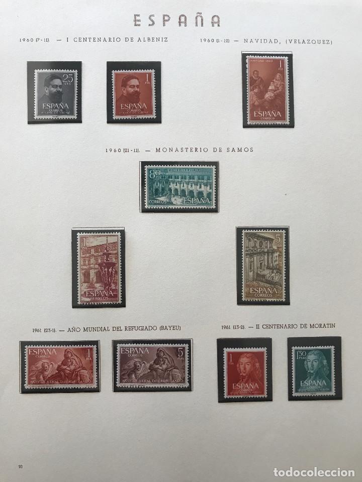 Sellos: Excepcional coleccion sellos España años 1960 a 1990 en Hojas Olegario y 4 Albums Philos - Foto 54 - 219321357