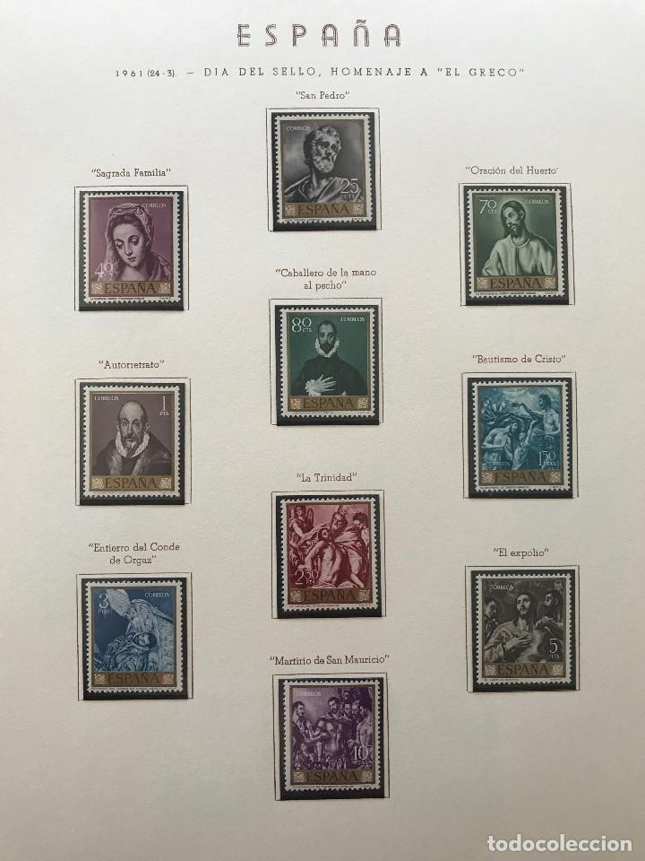 Sellos: Excepcional coleccion sellos España años 1960 a 1990 en Hojas Olegario y 4 Albums Philos - Foto 55 - 219321357