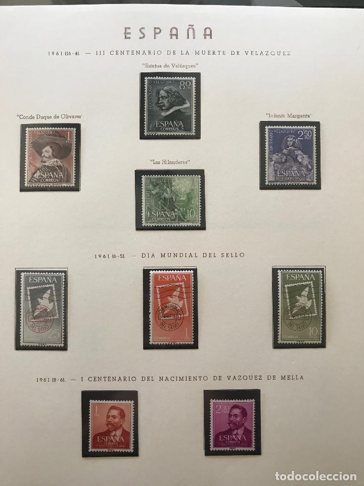 Sellos: Excepcional coleccion sellos España años 1960 a 1990 en Hojas Olegario y 4 Albums Philos - Foto 56 - 219321357