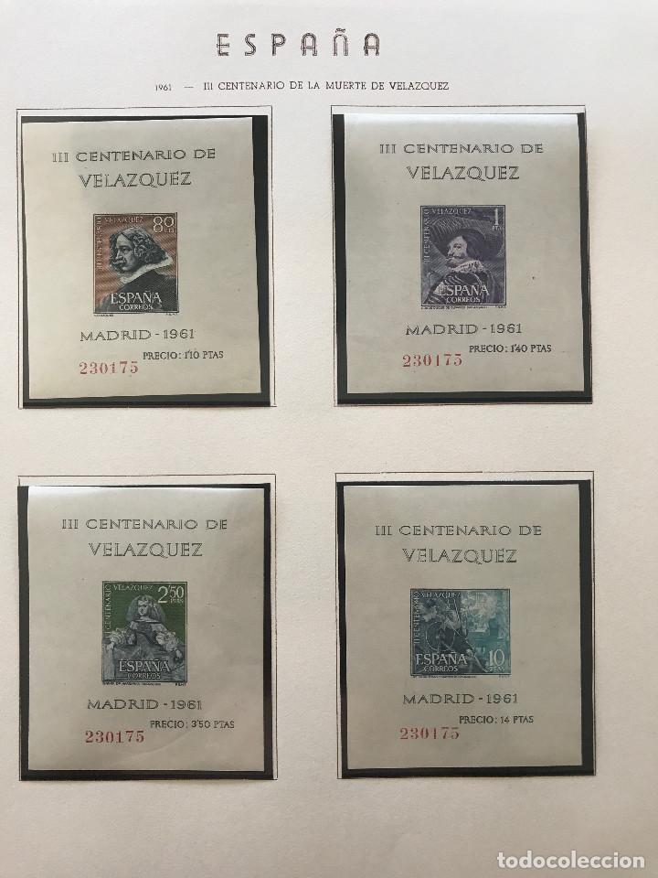 Sellos: Excepcional coleccion sellos España años 1960 a 1990 en Hojas Olegario y 4 Albums Philos - Foto 57 - 219321357
