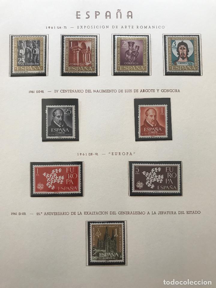 Sellos: Excepcional coleccion sellos España años 1960 a 1990 en Hojas Olegario y 4 Albums Philos - Foto 59 - 219321357