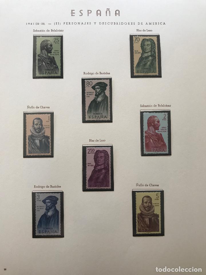 Sellos: Excepcional coleccion sellos España años 1960 a 1990 en Hojas Olegario y 4 Albums Philos - Foto 60 - 219321357