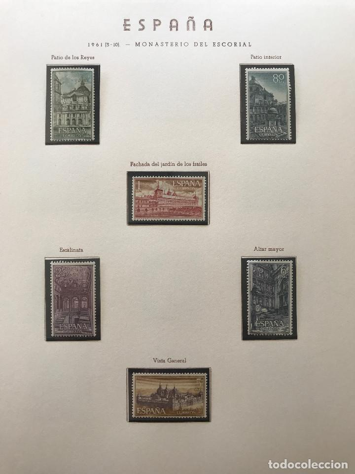 Sellos: Excepcional coleccion sellos España años 1960 a 1990 en Hojas Olegario y 4 Albums Philos - Foto 61 - 219321357