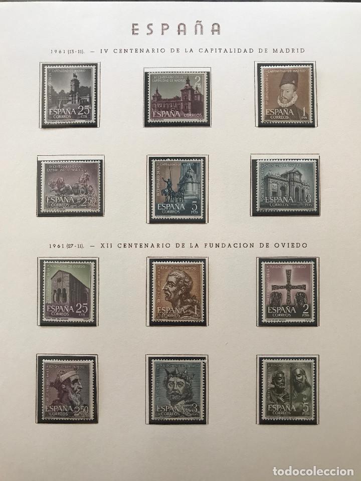Sellos: Excepcional coleccion sellos España años 1960 a 1990 en Hojas Olegario y 4 Albums Philos - Foto 62 - 219321357
