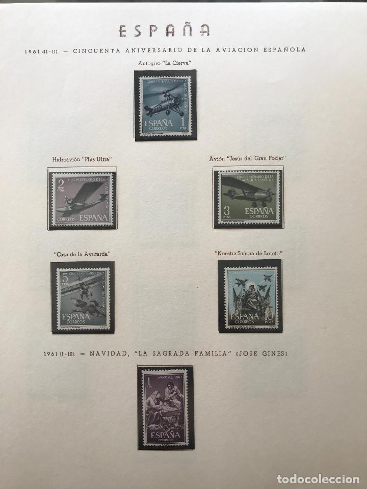 Sellos: Excepcional coleccion sellos España años 1960 a 1990 en Hojas Olegario y 4 Albums Philos - Foto 63 - 219321357