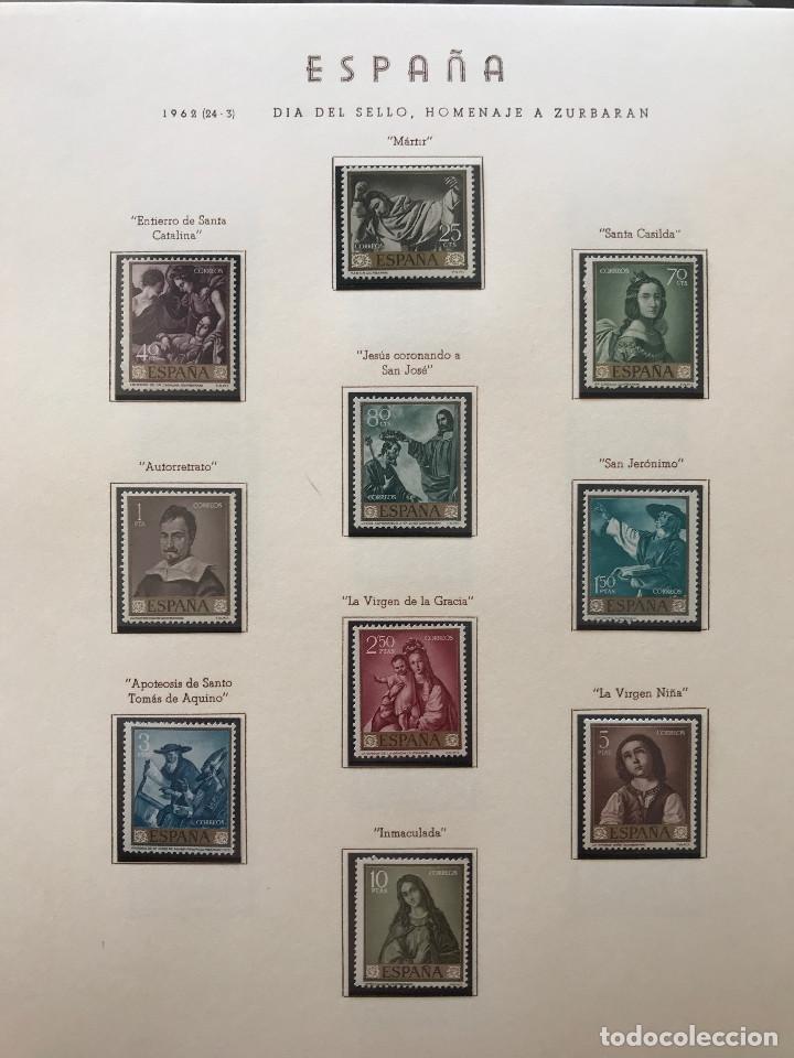 Sellos: Excepcional coleccion sellos España años 1960 a 1990 en Hojas Olegario y 4 Albums Philos - Foto 64 - 219321357