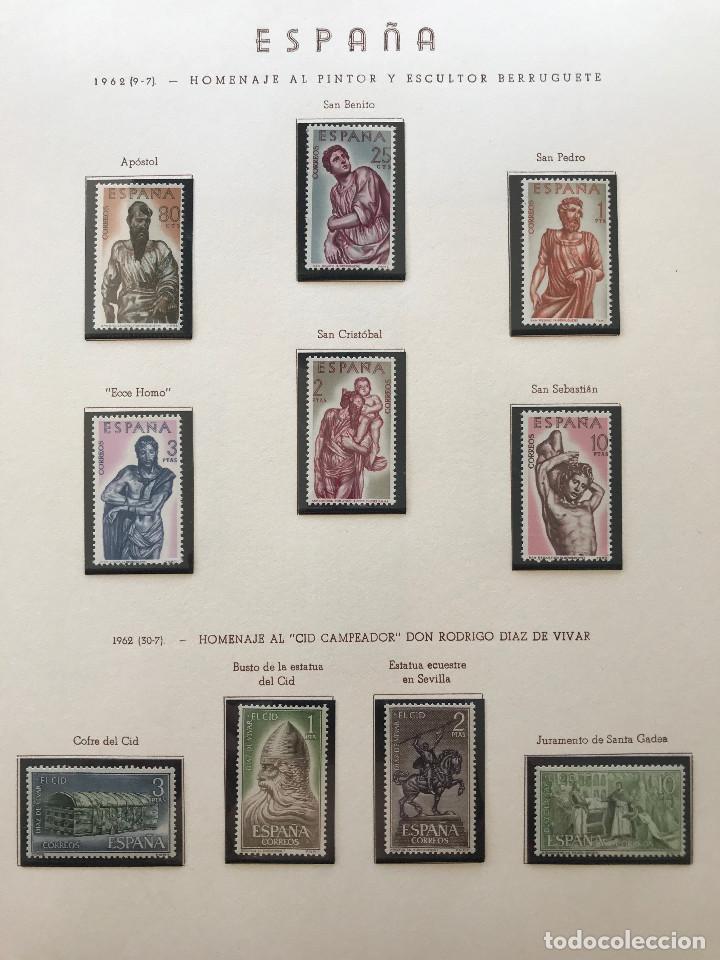 Sellos: Excepcional coleccion sellos España años 1960 a 1990 en Hojas Olegario y 4 Albums Philos - Foto 66 - 219321357