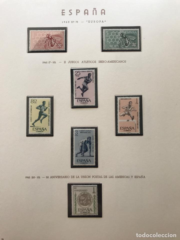 Sellos: Excepcional coleccion sellos España años 1960 a 1990 en Hojas Olegario y 4 Albums Philos - Foto 67 - 219321357