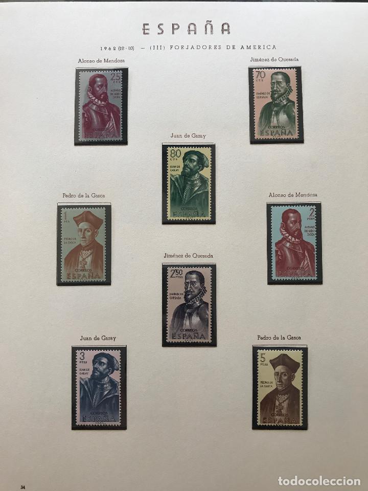 Sellos: Excepcional coleccion sellos España años 1960 a 1990 en Hojas Olegario y 4 Albums Philos - Foto 68 - 219321357
