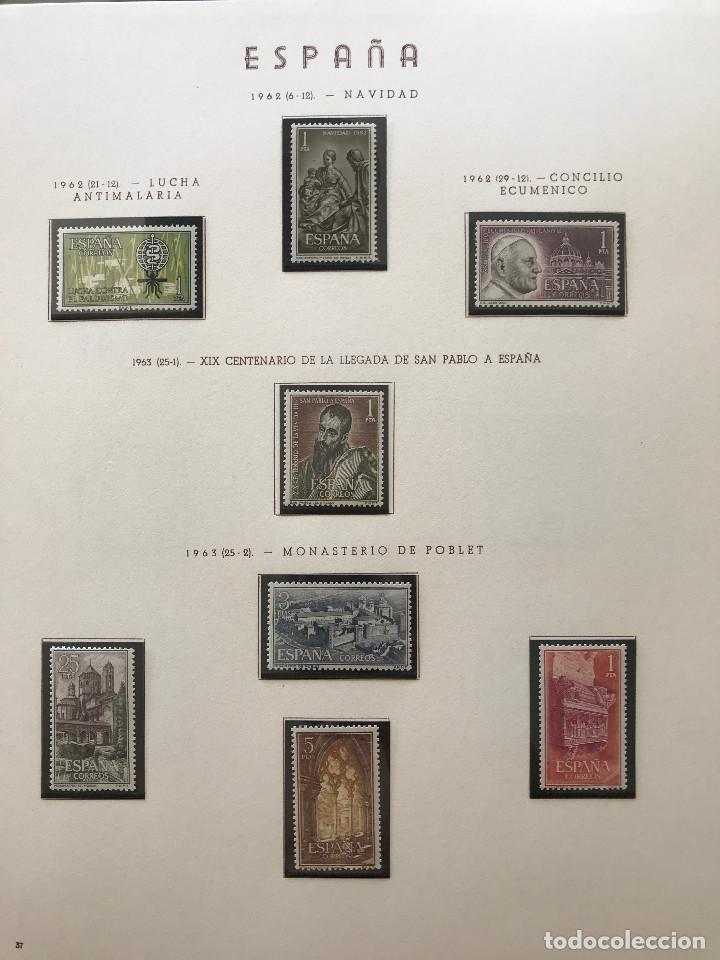 Sellos: Excepcional coleccion sellos España años 1960 a 1990 en Hojas Olegario y 4 Albums Philos - Foto 71 - 219321357