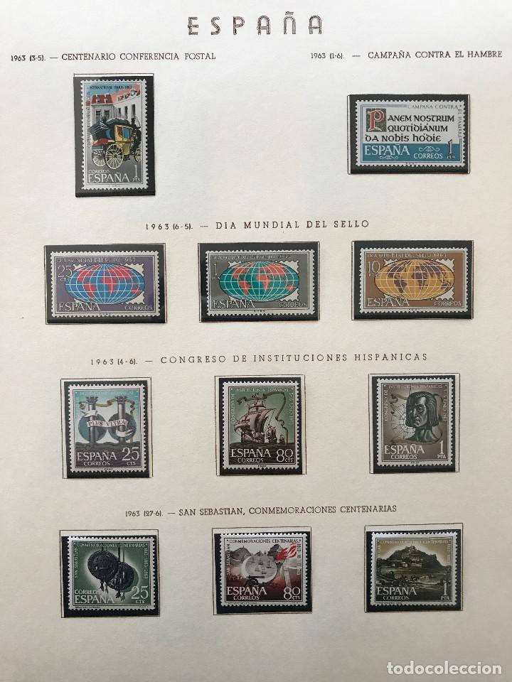 Sellos: Excepcional coleccion sellos España años 1960 a 1990 en Hojas Olegario y 4 Albums Philos - Foto 73 - 219321357